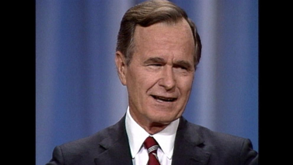 read my lips the quotable george h w bush video abc news