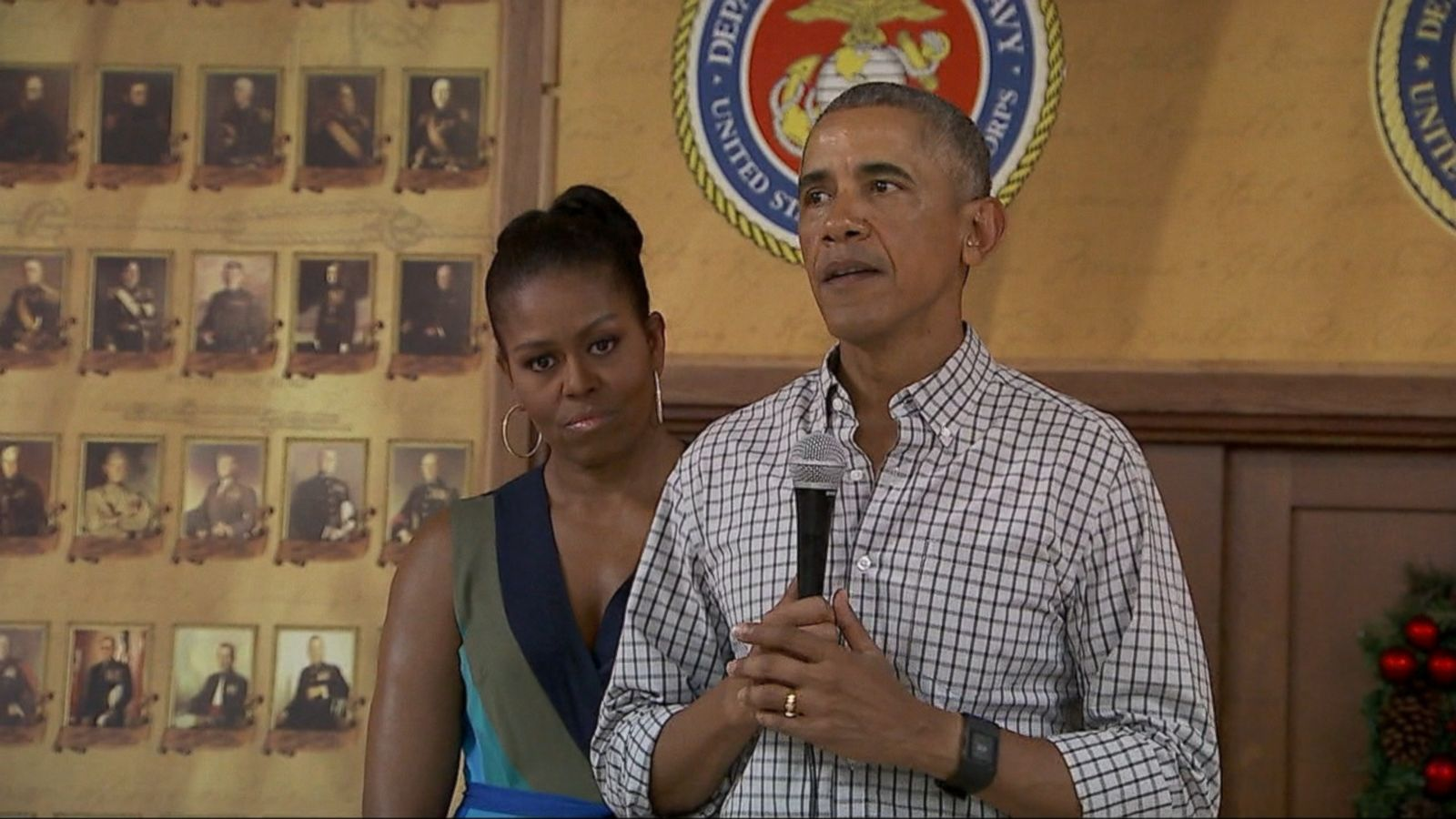 VIDEO: In his last Christmas as Commander-in-Chief, President Obama paid tribute to troops serving overseas.