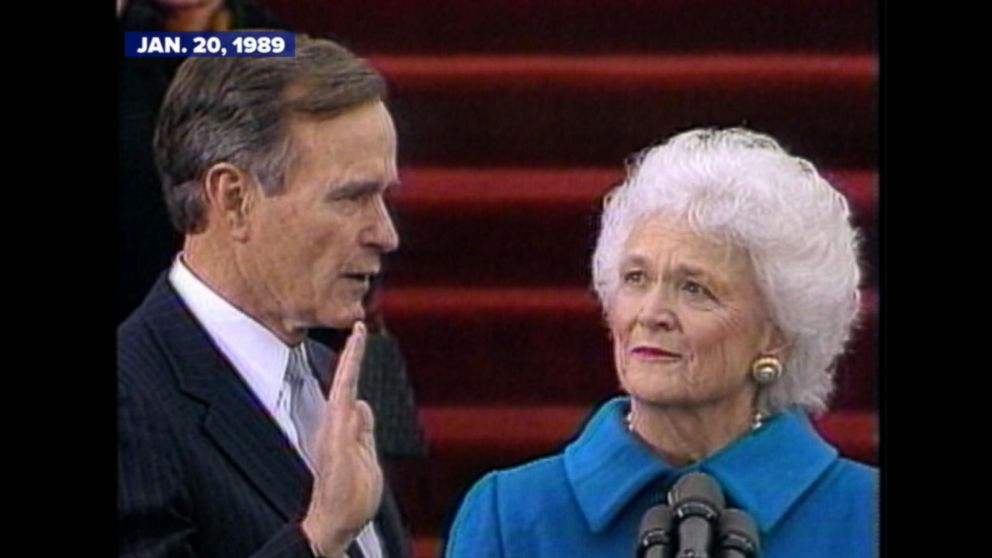 the inauguration of president george h w bush video abc news