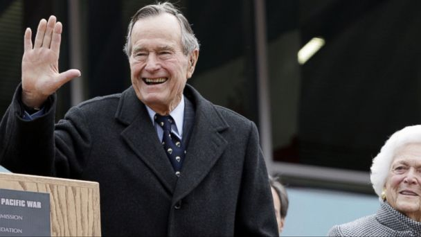 VIDEO: Bush, 92, is being monitored at Houston Methodist Hospital as a precaution and is resting comfortably, his office said.