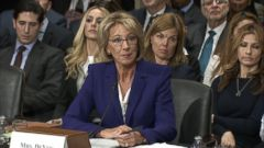 VIDEO: Donald Trumps choice to lead the Department of Education says my heart bleeds for families impacted by gun violence.