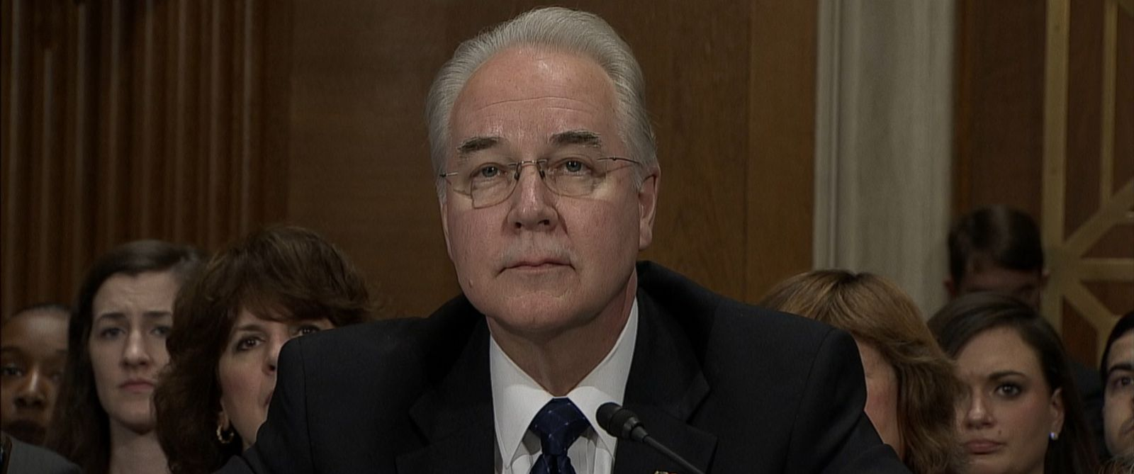 VIDEO: HHS Pick Tom Price Denies Wrongdoing Over Stock Transaction Rep. Tom Price faced questions from Sen. Patty Murray at a Senate confirmation hearing.