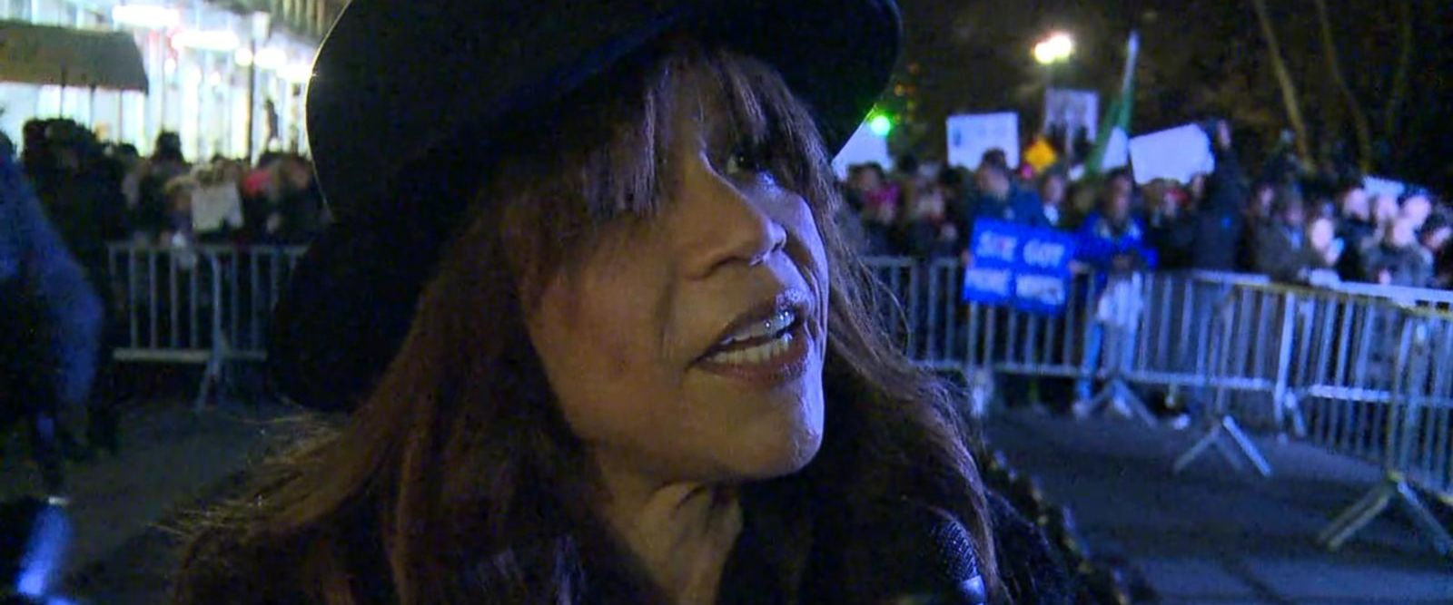 VIDEO: Rosie Perez Joins Protest Outside Trump Hotel On Eve of Inauguration