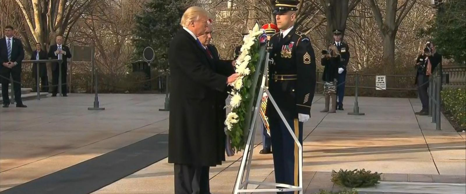 Trump was joined in the ceremony by Vice President-elect Mike Pence.