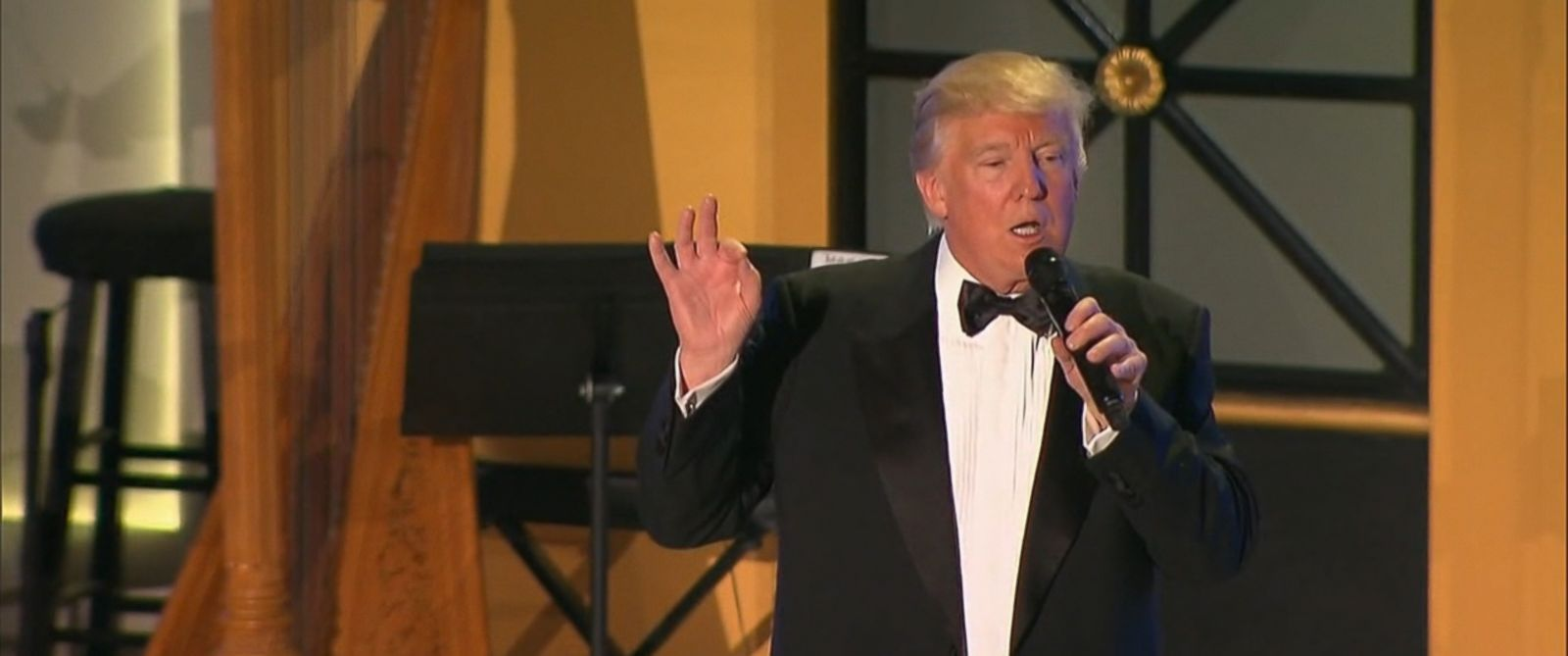 VIDEO: President-elect Donald Trump joked about the weather forecast on the eve of his inauguration.