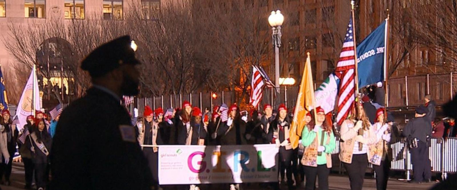 VIDEO: Girl Scouts March in Inaugural Parade Despite Pressure to Drop Out