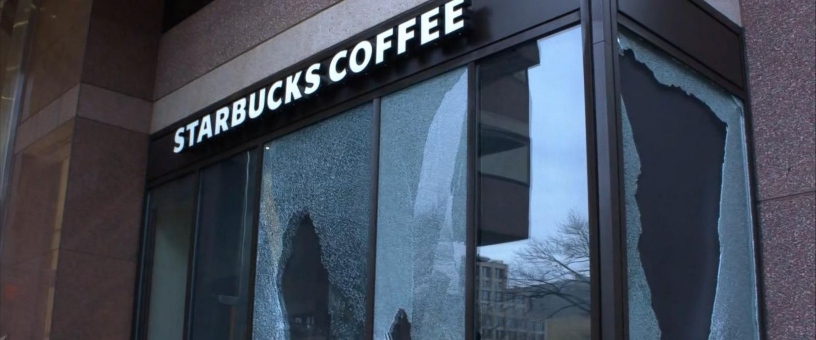 VIDEO: Vandalized Starbucks in Washington, D.C