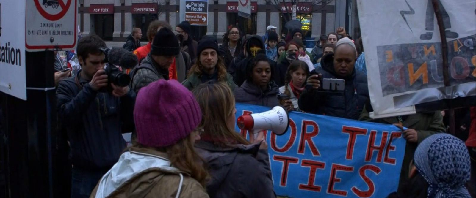 VIDEO: Inauguration Day Protests Underway in Washington, D.C.