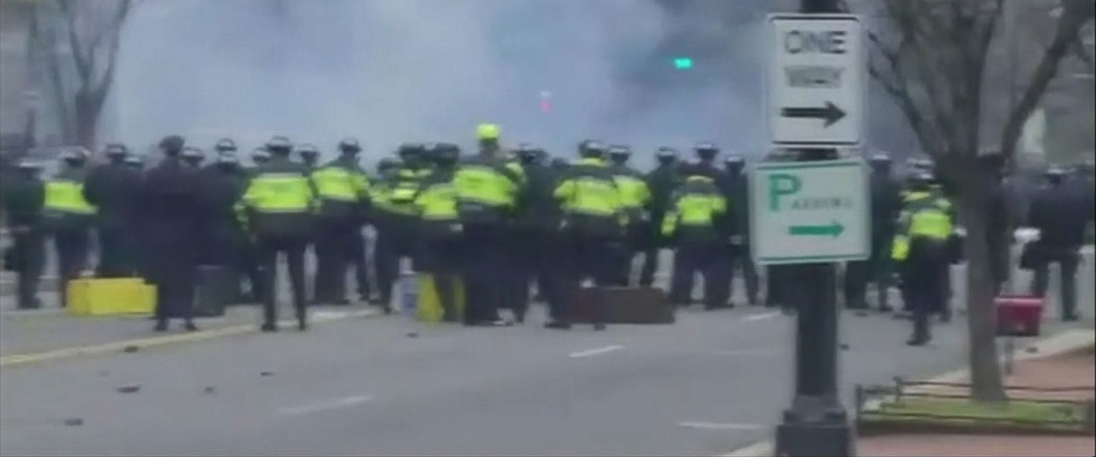 VIDEO: Inauguration Protests Heat Up as Police Employ Tear Gas Against Rock-Throwing Activists