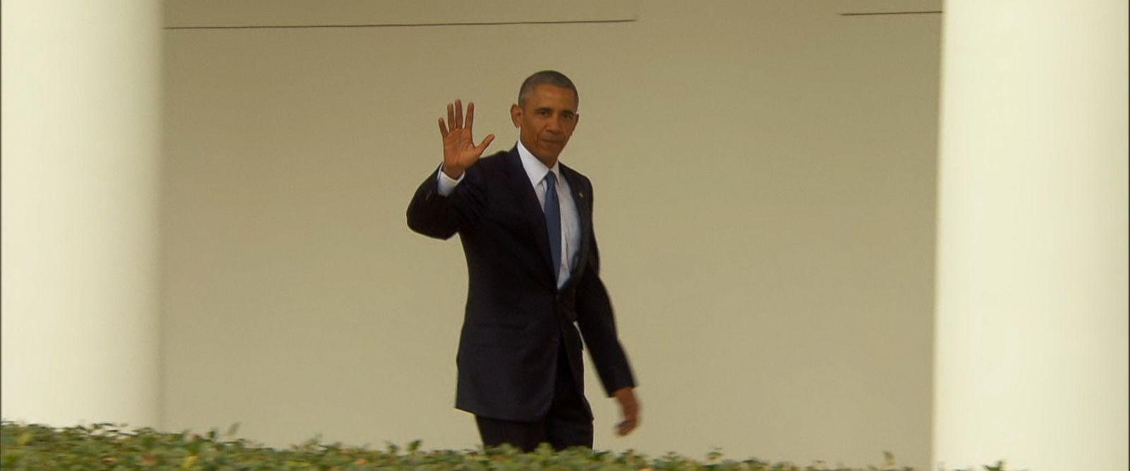 """VIDEO: When asked if he was feeling nostalgic, the president answered, """"Of course."""""""
