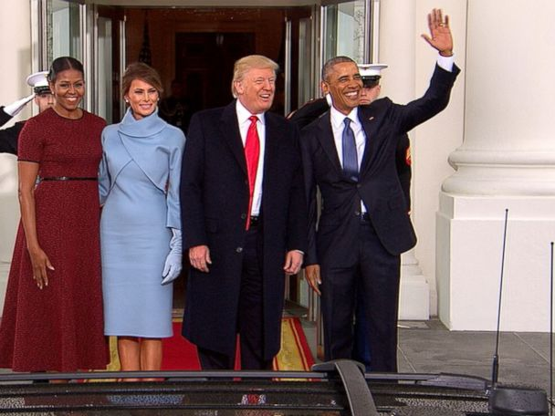 WATCH:  Obamas Welcome Trumps to the White House