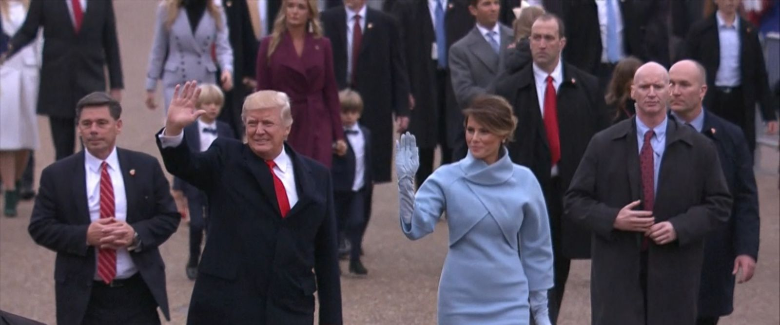 The new president and vice president of the United States paraded through the streets of Washington, D.C., after taking their oaths of office.