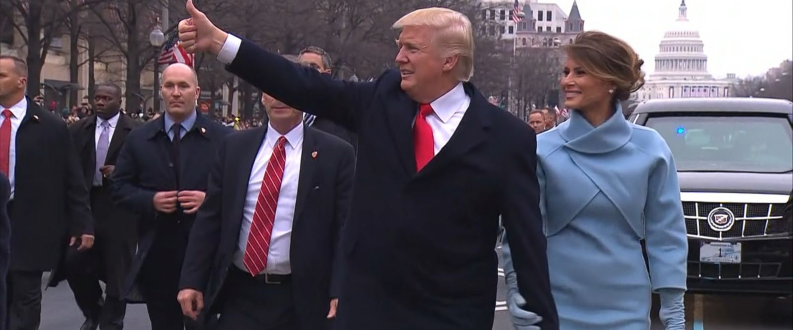 VIDEO: President Trump Relishes Inauguration Moments