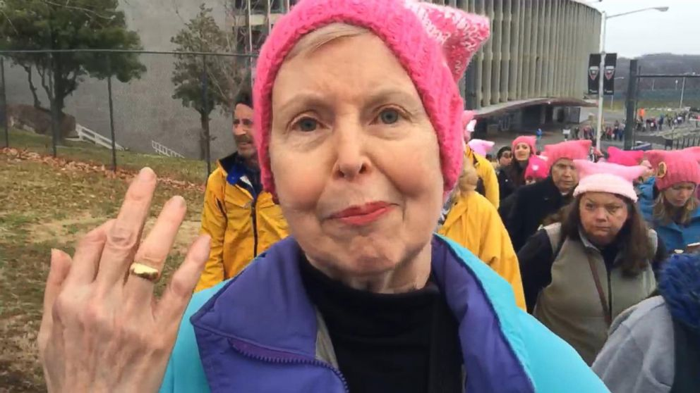 WATCH:  Arriving at the Women's March on Washington, DC