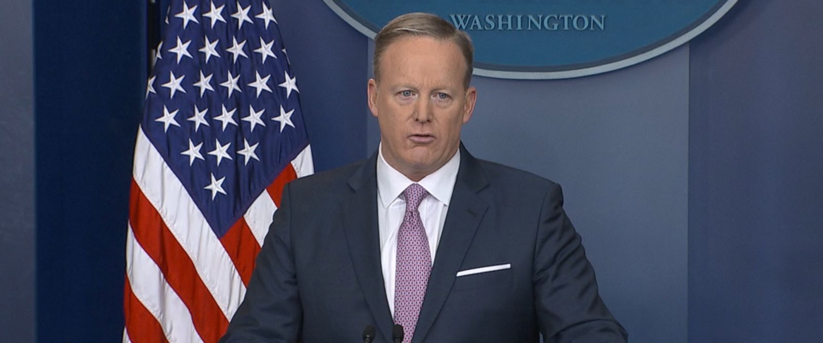VIDEO: The White House press secretary for President Trump held his first press briefing answering questions.