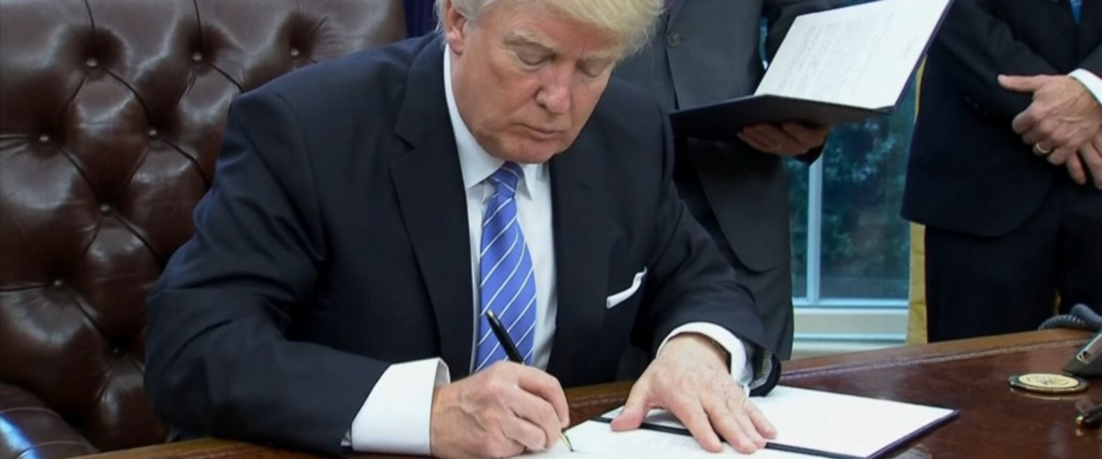 President Donald Trump signed an executive order this morning which called for the U.S.'s withdrawal from the Trans-Pacific Partnership, fulfilling a promise made on the campaign trail in a move he says will help American businesses.