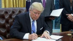 President Donald Trump signed an executive order this morning which called for the U.S.s withdrawal from the Trans-Pacific Partnership, fulfilling a promise made on the campaign trail in a move he says will help American businesses.
