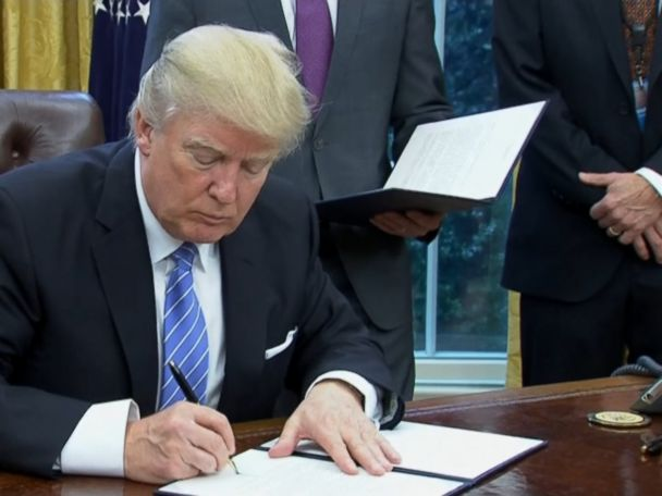 WATCH:  President Trump Pulls US From TPP