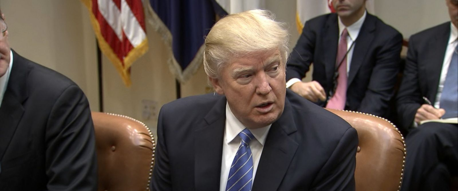 "VIDEO: The president says companies leaving America will face a ""substantial border tax"" on their products."