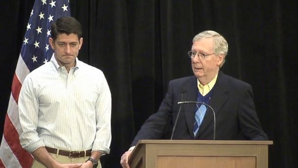 VIDEO: House Speaker Paul Ryan and Senate Majority Leader Mitch McConnell said today that Congress will forge ahead on plans to approve funds for President Donald Trump's border wall, which they estimate will cost between $12-$15 billion.