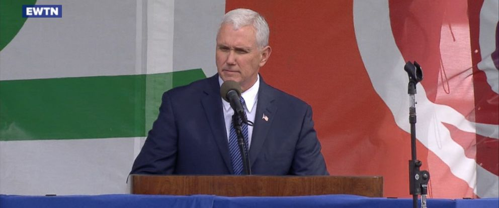 """VIDEO: The vice president told the crowd in Washington, D.C., that """"life is winning again in America."""""""