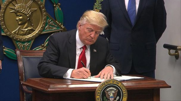 The president said a new order will be issued next week to replace his travel ban after it was halted by legal challenges.