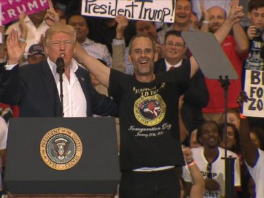 Trump invites supporter on stage at Florida campaign rally