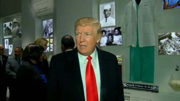 VIDEO: The president visited the museum with Housing and Urban Development secretary Ben Carson.