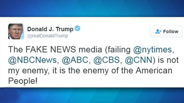 VIDEO:  President Trump: Media is the 'enemy of the American people'