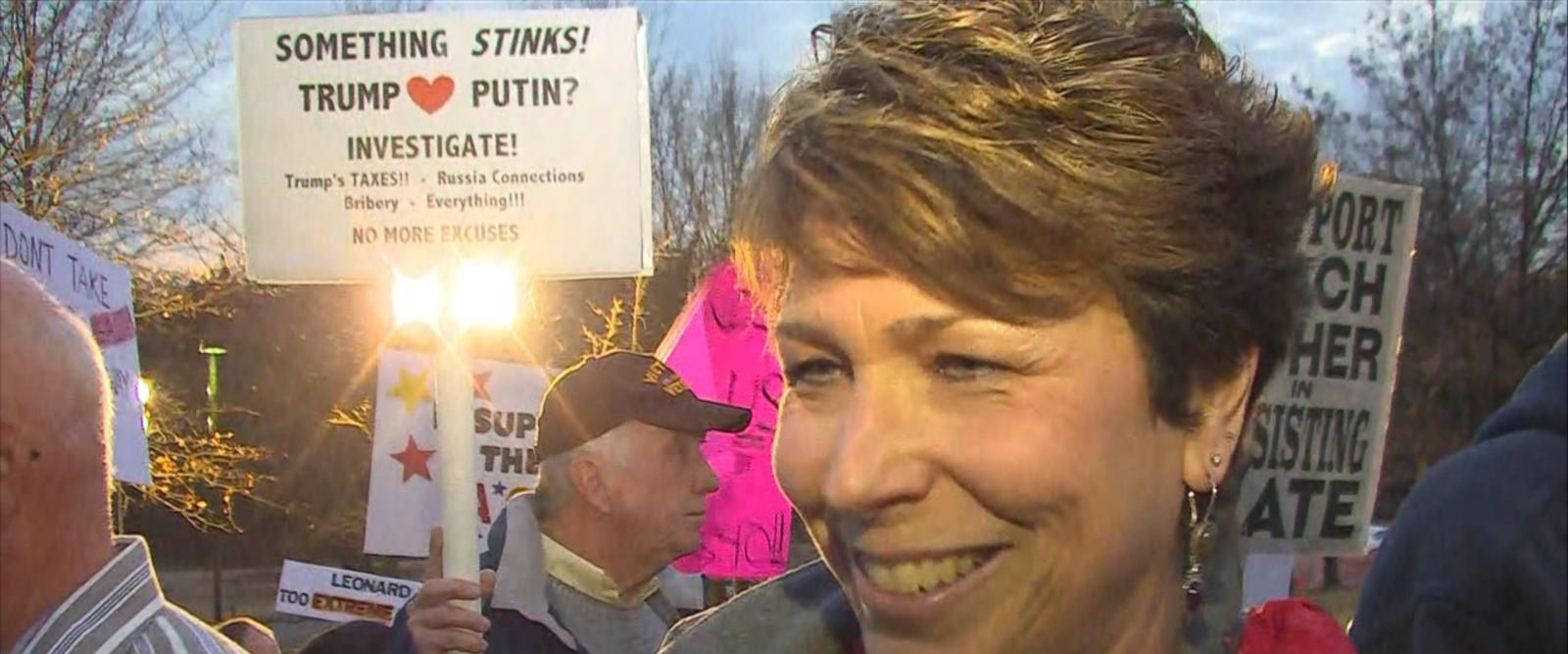 VIDEO: Protesters and supporters gather ahead of Rep. Leonard Lance's town hall