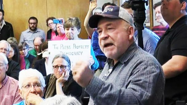 VIDEO: Town halls turn testy when constituents face their representatives