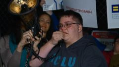 During a rally outside the White House, an emotional Gavin Grimm said, I hope that the nation as a whole moves towards love and moves towards equality and moves towards acceptance in the future.