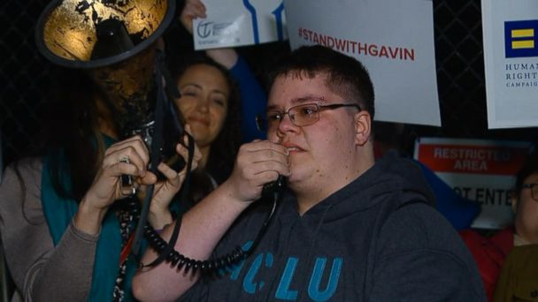 During a rally outside the White House, an emotional Gavin Grimm said,