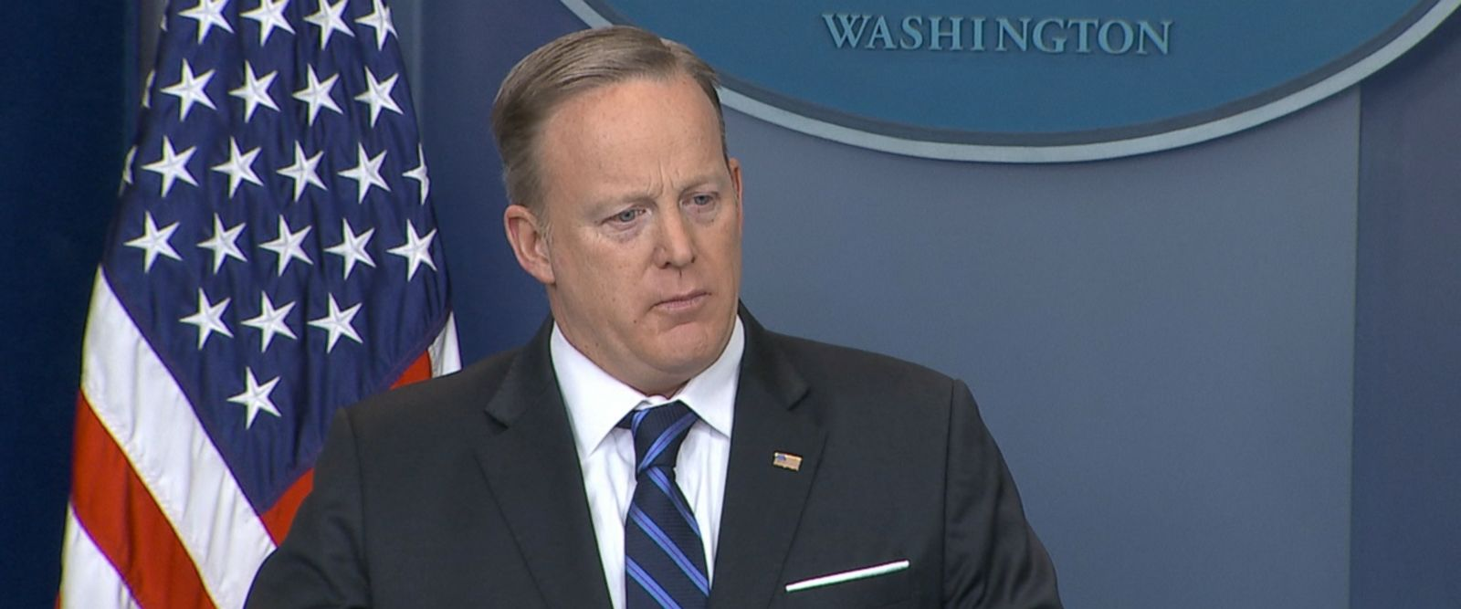 "White House press secretary Sean Spicer said Trump believes ""in states' rights and certain issues like this are not best dealt with at the federal level."""