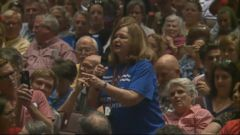 VIDEO: With the House of Representatives out of session this week, many members have headed back to their home districts to engage with constituents and, in some cases, hold town hall meetings.