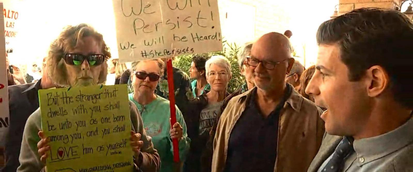 VIDEO: Protesters gather outside Rep. Martha McSally Town Hall in Sahuarita, AZ
