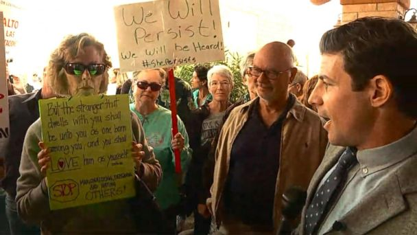 VIDEO: Protesters gather outside Rep. Martha McSally Town Hall in Sahuarita, AZ