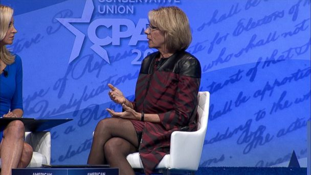 VIDEO: Education Secretary Betsy DeVos said she supports President Trump's rollback of Obama administration guidelines on transgender students' choice of bathrooms in schools.