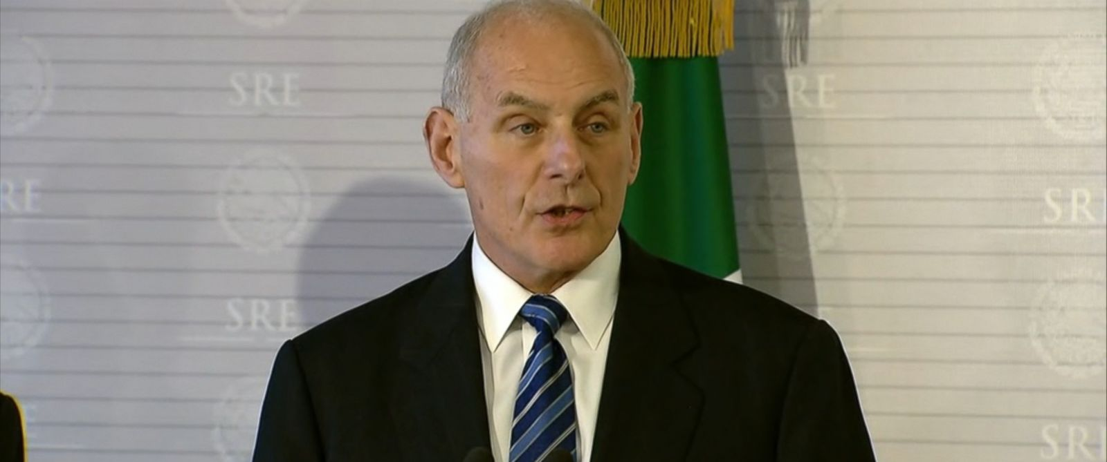 "VIDEO: Just hours after President Donald Trump described his new deportation policies as ""a military operation,"" Secretary of Homeland Security John Kelly criticized the media for using that term and insisted there will be no ""mass deportations."""