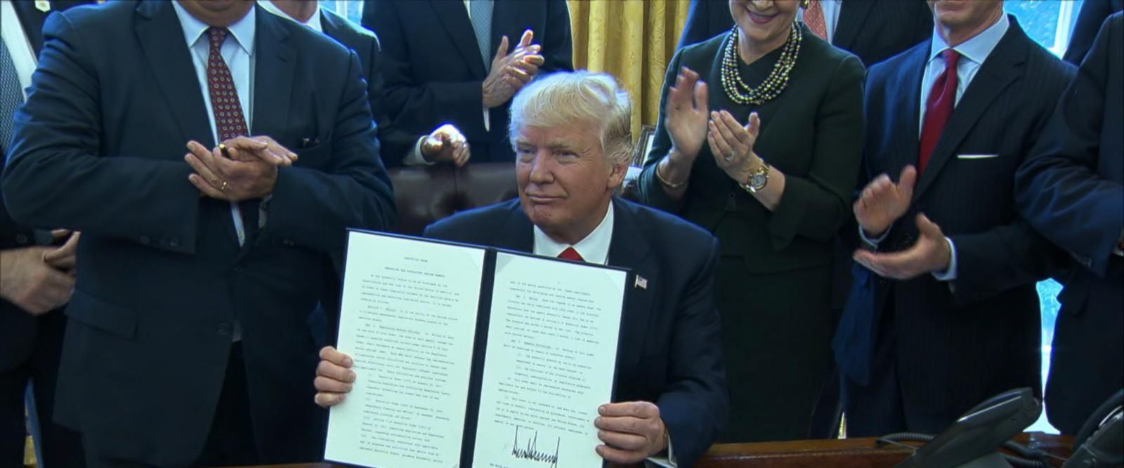 The president directed government agencies to create task forces to look into ways to eliminate or scale back regulations.
