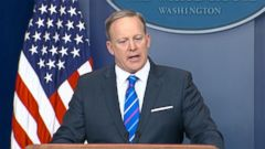 VIDEO: ABC News Jonathan Karl presses Sean Spicer over administrations role in knocking down reports of Trump campaigns ties to Russia.