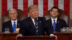 Donald Trump delivered his first-ever address to a joint session of Congress Tuesday night, addressing several familiar themes from his campaign, and calling for unity to address a litany of issues that he says are plaguing the country.