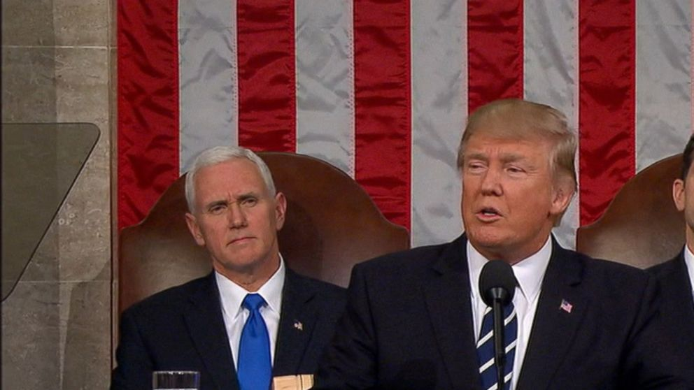 Did President Trump change his tune in first address to Congress?