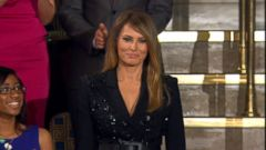 The first lady was in attendance for President Trumps first address to a joint session of Congress.