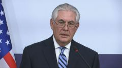 VIDEO: Secretary of State Rex Tillerson says the U.S. will not rule out the possibility of using military force against North Korea if it continues to develop nuclear weapons, telling reporters Friday that all of the options are on the table.