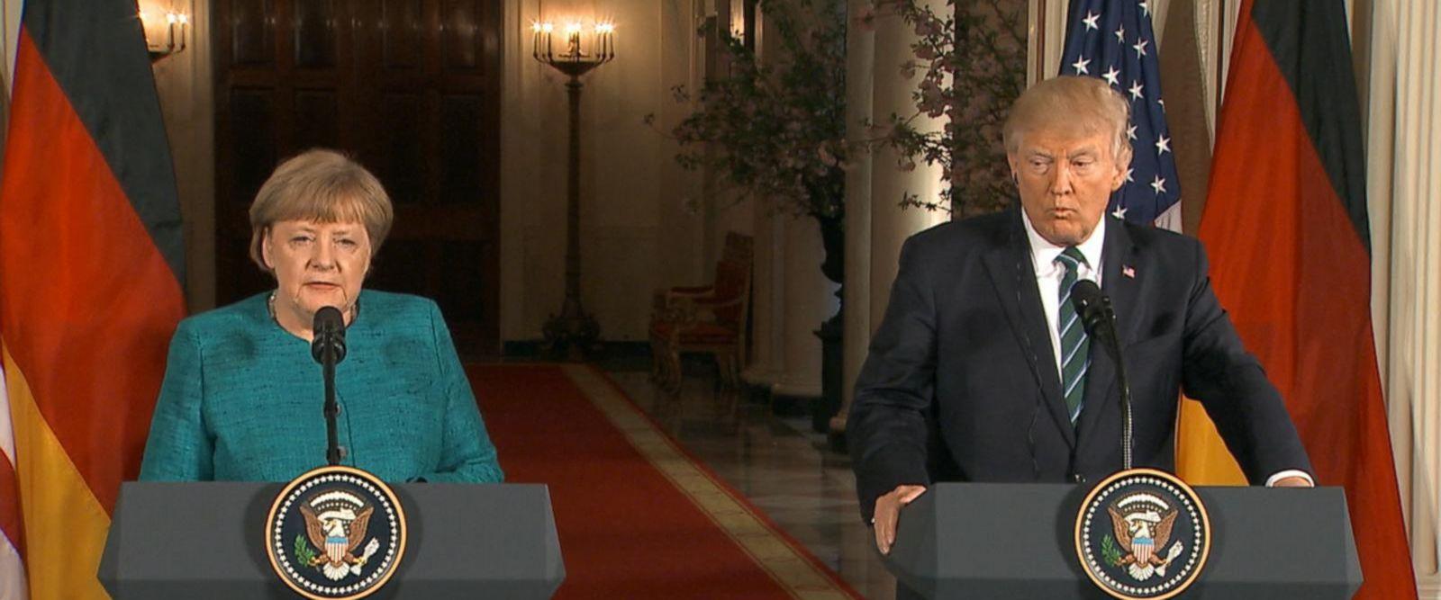 VIDEO: President Trump hosts German Chancellor Angela Merkel