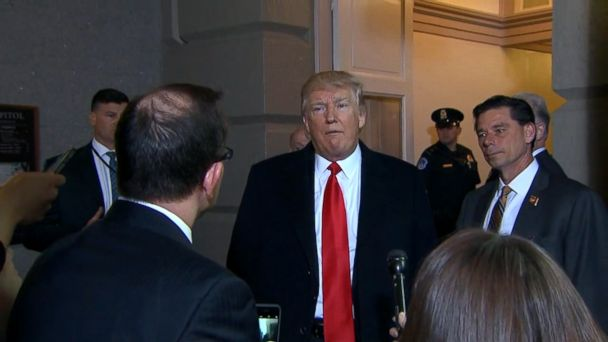 VIDEO: The president made his comments after attending a closed-door meeting with House Republicans.