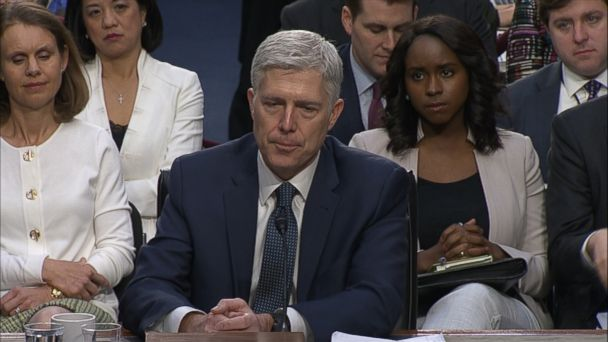 VIDEO: President Trump's Supreme Court nominee mentioned his father when being questioned by Sen. Dianne Feinstein.