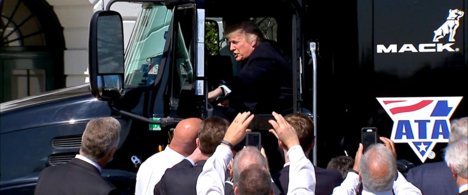 VIDEO: Donald Trump shows off his trucking skills