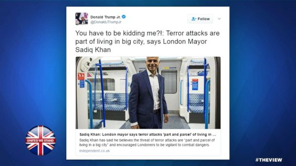 VIDEO: Trump Jr. slams London Mayor after terror attack